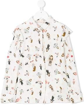 Elisabetta Franchi La Mia Bambina printed shirt