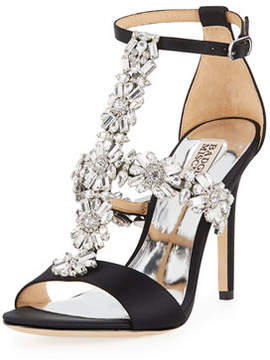 Badgley Mischka Munroe Embellished T-Strap Dress Sandal