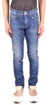 Frankie Morello Men's Mcbi125100o Blue Cotton Jeans.
