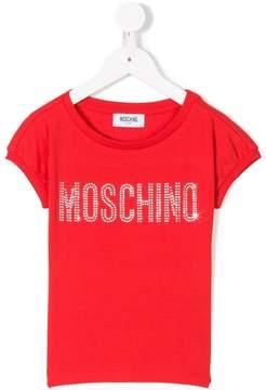 Moschino Kids logo patch T-shirt
