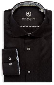 Bugatchi Cotton Long-Sleeve Dress Shirt