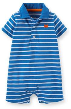 Carter's Jersey Striped Baby Clothing Outfit Polo Romper Blue