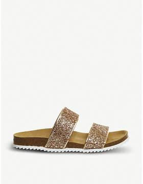 Office Oslo 2 glitter slider sandals