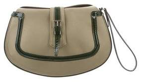 Tod's Patent Leather-Trimmed Wristlet