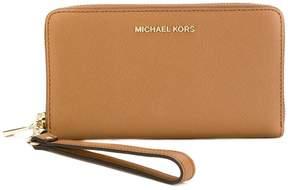 MICHAEL Michael Kors wrist strap zip wallet - BROWN - STYLE
