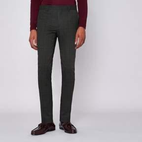 River Island Mens Grey check super skinny suit pants