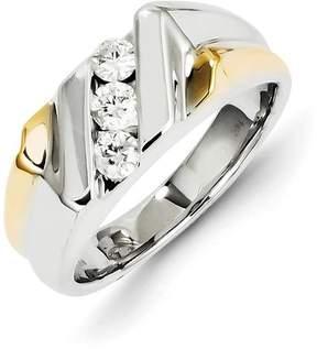 Ice 14k Two-tone Gold Diamond Mens Ring