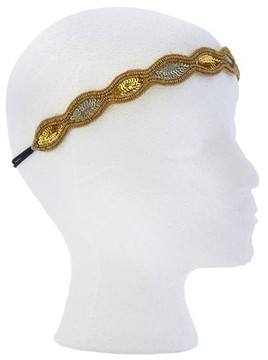 Pink Pewter Gold and Silver Stretch Headband