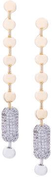 Eddie Borgo Long ball chain drop earrings
