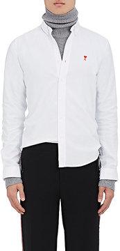 Ami Alexandre Mattiussi Men's Heart-Logo Cotton Oxford Shirt