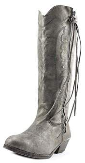 Rampage Womens Telula Fabric Pointed Toe Mid-calf Cowboy Boots.