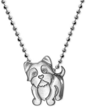 Alex Woo Yorkie Pendant Necklace in Sterling Silver