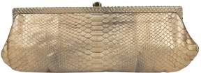 Kotur Gold Python Clutch Bag