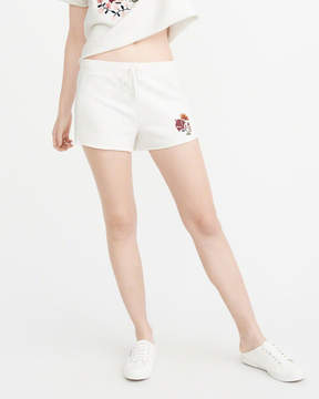 Abercrombie & Fitch Embroidered Cutoff Shorts