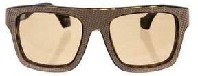Balenciaga Embossed Tinted Sunglasses