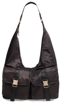 Steve Madden Satin Hobo Bag - Black