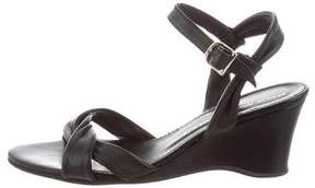 Attilio Giusti Leombruni Leather Wedge Sandals