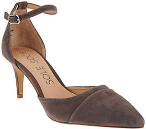 Sole Society Suede Ankle Strap Pumps - Alix