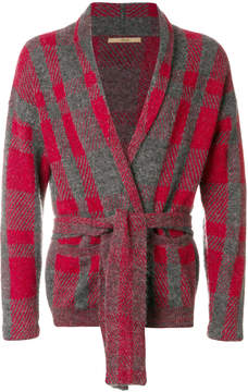 Nuur patterned belted cardigan