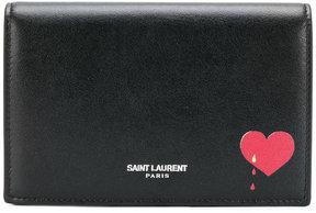 Saint Laurent heart drip foldover purse - BLACK - STYLE