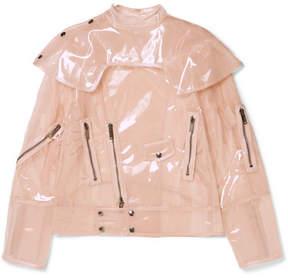 Valentino Vinyl Biker Jacket - Beige