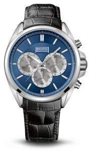 BOSS Hugo '1512882' Chronograph Croc Embossed Leather Strap Watch One Size Assorted-Pre-Pack