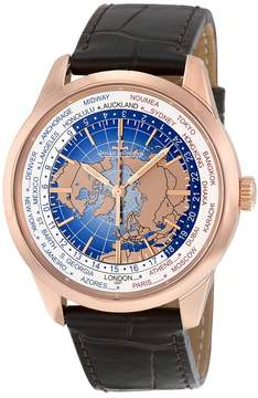 Jaeger-LeCoultre Jaeger Lecoultre Geophysic Universal Time Automatic Blue Lacquer Dial 18kt Pink Gold Men's Watch