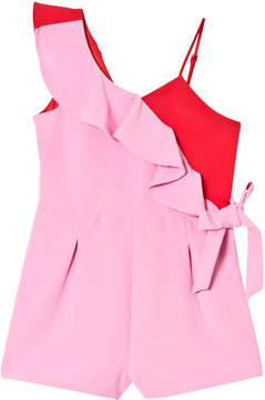 Bardot Junior Sherbet and Red Frill Romper