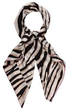 Louis Vuitton Silk Zebra Print Scarf