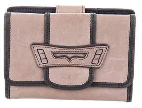 Tod's Small Leather Flap Wallet
