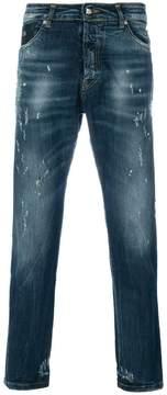 John Richmond printed straight-leg jeans