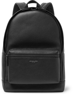 Michael Kors Full-Grain Leather Backpack