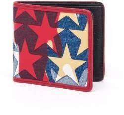 Valentino Laminated Camouflage Stars Billfold Wallet