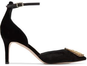 Sam Edelman Tabby Embellished Velvet Pumps - Black