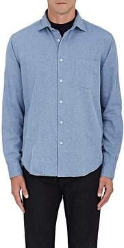 Hartford Men's Penn Micro-Print Cotton Flannel Shirt