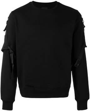 Les Hommes belted sleeve sweatshirt
