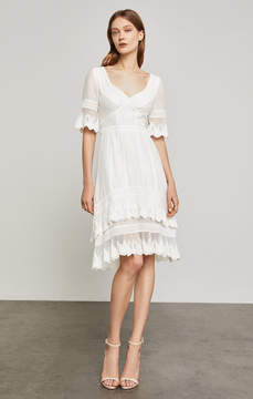 BCBGMAXAZRIA Dell Embroidered Voile Dress