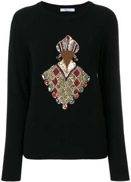 Blumarine sequin embellished jumper