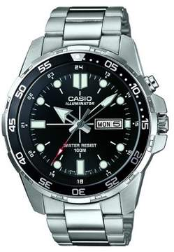 Casio Men's Dive Style Watch with Super Bright LED, Black - MTD1079-1AV