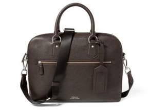 Ralph Lauren Pebbled Leather Briefcase Dark Brown One Size