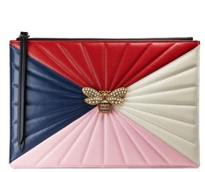 Gucci Bee Zip Pouch - Blue - BLUE - STYLE