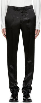 Raf Simons Black Satin Slim Pants