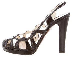 Moschino Cutout Slingback Sandals