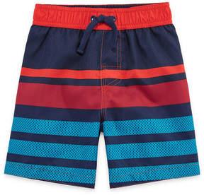 Trunks Okie Dokie Stripe Swim Trunk-Toddler Boys