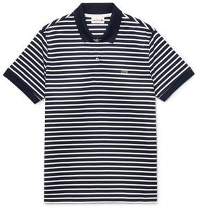 Lacoste Striped Cotton-Jersey Polo Shirt