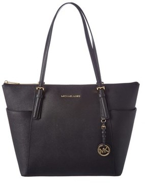 MICHAEL Michael Kors Jet Set Large Leather East/west Tote. - BLACK - STYLE