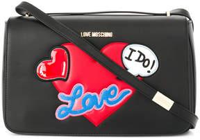 Love Moschino heart embellished shoulder bag