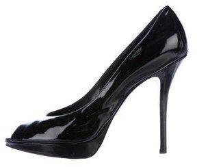 Christian Dior Peep-Toe Platform Pumps