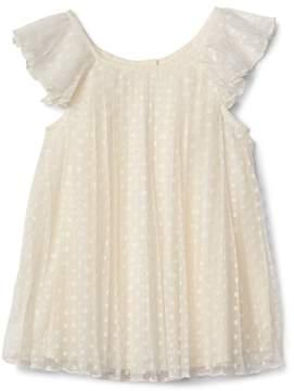 Gap Dotty pleat flutter dress