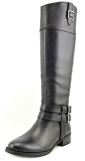 INC International Concepts Fahnee Round Toe Leather Knee High Boot.